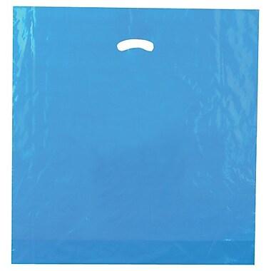 Shamrock Plastic 20in.H x 20in.W x 5in.D Low Density Shopping Bags, Dark Blue, 500/Carton