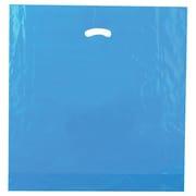 Shamrock 20 x 20 x 5 Low Density Single Layer Kidney Die-Cut Handle Bags, Dark Blue