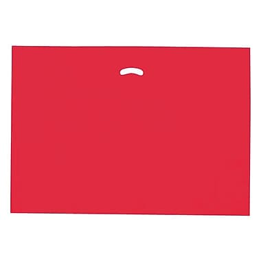 Shamrock 24in. x 24in. x 5in. Low Density Single Layer Kidney Die-Cut Handle Bags, Red