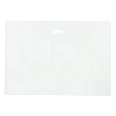 Shamrock 24in. x 24in. x 5in. Low Density Single Layer Kidney Die-Cut Handle Bags, White