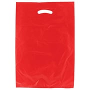Shamrock 13 x 3 x 21 High Density Die-Cut Handle Merchandise Bags, Red