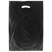 Shamrock 13 x 3 x 21 High Density Die-Cut Handle Merchandise Bags, Black