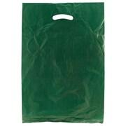Shamrock 13 x 3 x 21 High Density Die-Cut Handle Merchandise Bags, Dark Green