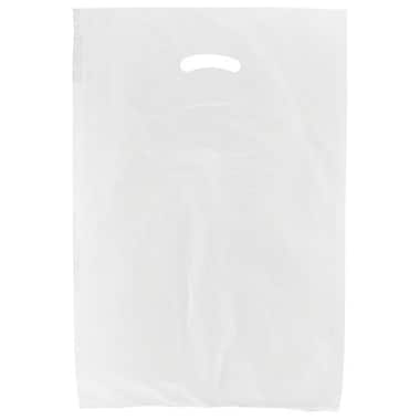 Shamrock 16in. x 4in. x 24in. High Density Die-Cut Handle Merchandise Bags, White