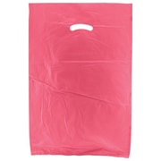 Shamrock 16 x 4 x 24 High Density Die-Cut Handle Merchandise Bags, Magenta Pink