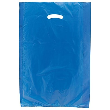 Shamrock 16in. x 4in. x 24in. High Density Die-Cut Handle Merchandise Bags, Dark Blue