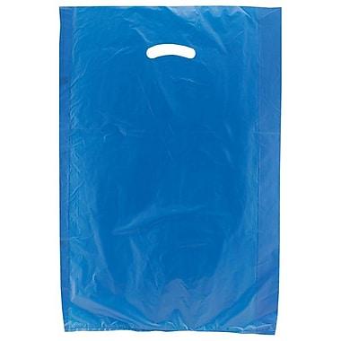 Shamrock Plastic 24in.H x 16in.W x 4in.D High Density Die-Cut Handle Merchandise Bags, Dark Blue, 500/Carton