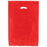 Shamrock Plastic 24H x 16W x 4D High Density Die-Cut Handle Merchandise Bags, Red, 500/Carton