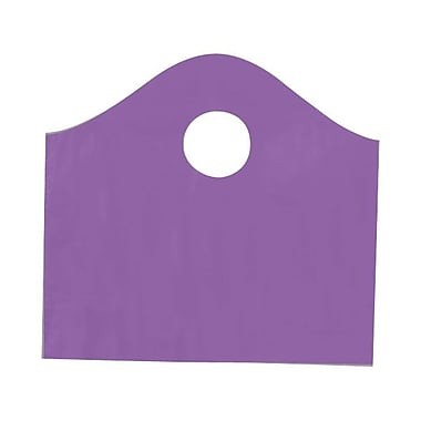 Shamrock 12in. x 11in. x 4in. Super Wave® Die Cut Handle Bags Pack, Purple Grape