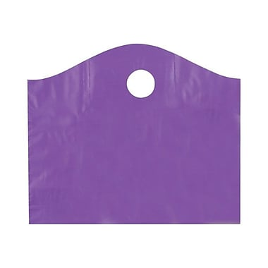 Shamrock 18in. x 15in. x 6in. Super Wave® Die Cut Handle Bags, Purple Grape
