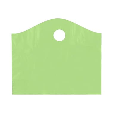 Shamrock 18in. x 15in. x 6in. Super Wave® Die Cut Handle Bags, Citrus Green