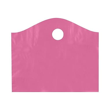 Shamrock Plastic 15in.H x 18in.W x 6in.D Die-Cut Handle Shopping Bags, Sizzling Pink, 250/Carton