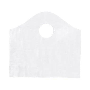 Shamrock Plastic 11in.H x 12in.W x 4in.D Die-Cut Handle Shopping Bags, Clear, 250/Carton