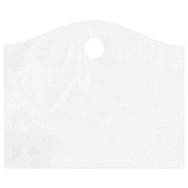 Shamrock 22in. x 18in. x 8in. Super Wave® Die-Cut Handle Bags, Frosted Clear