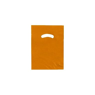 Shamrock 9in. x 12in. Low Density Single Layer Kidney Die-Cut Handle Bags, Burnt Orange