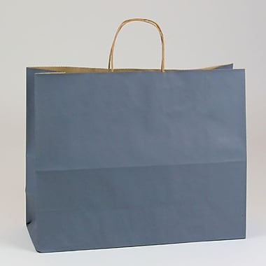 Shamrock 16in. x 6in. x 13in. Natural Smooth Paper Jaguar Shopping Bags, Charcoal
