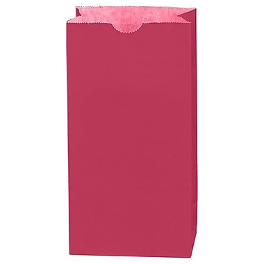 Shamrock 5in. x 3 1/8in. x 9 5/8in. 4# Paper SOS Bags, Red