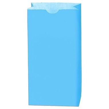 Shamrock 5in. x 3 1/8in. x 9 5/8in. 4# Paper SOS Bags, Sky Blue