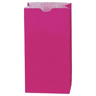 Shamrock 5in. x 3 1/8in. x 9 5/8in. 4# Paper SOS Bags, Wild Rose Tint