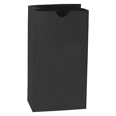 Shamrock 6in. x 3 5/8in. x 11 1/16in. 6# Paper SOS Bags, Black