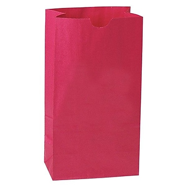 Shamrock 6in. x 3 5/8in. x 11 1/16in. 6# Paper SOS Bags, Red