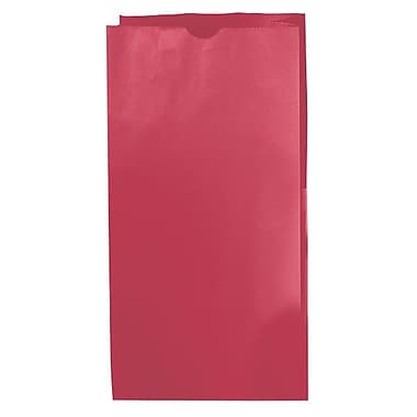 Shamrock 7 1/8in. x 4 3/8in. x 13 15/16in. 12# Paper SOS Bags, Red