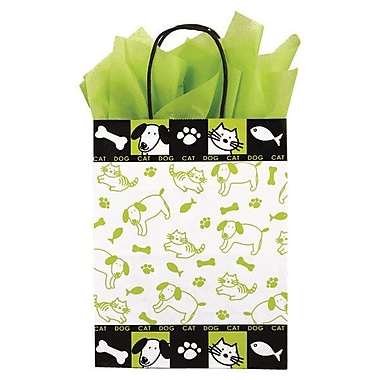 Shamrock 10 1/2in. x 8in. x 4 3/4in. Printed Paper Chimp Shopping Bags, Just Fur Fun