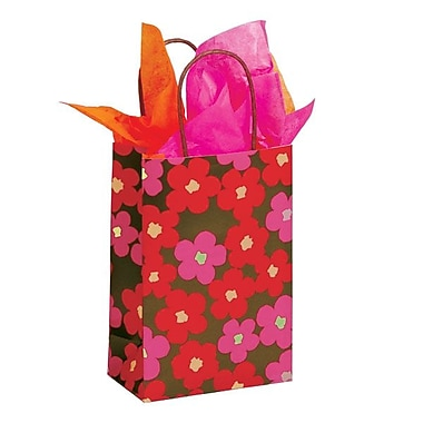 Shamrock 5 1/2in. x 3 1/4in. x 12 1/2 Printed Paper Toucan Shopping Bags, Just Peachy