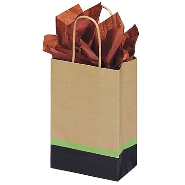 Shamrock 5 1/2in. x 3 1/4in. x 8 3/8in. Printed Paper Toucan Shopping Bags, Modern/Kraft