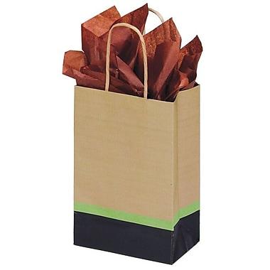 Shamrock 5 1/2in. x 3 1/4in. x 8 3/8in. Printed Paper Toucan Shopping Bags, Modern/Kraft