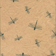 "Shamrock 20"" x 30"" Dragonflies Printed Tissue Paper, Green/Tan Brown"