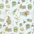 Shamrock 20in. x 30in. Birds Nests Fruit Printed Tissue Paper, Blue/Brown/White