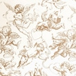 Shamrock 20in. x 30in. Printed Tissue Paper, Gold Cherubs