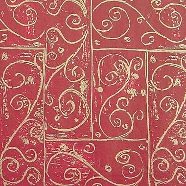 Shamrock 20in. x 30in. Printed Tissue Paper, Burgundy Swirls