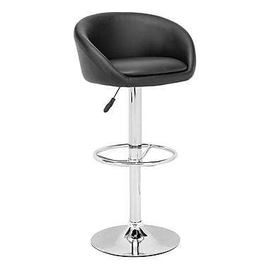 Zuo® Leatherette Orchestra Bar Stool, Black