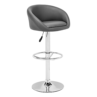 Zuo® Leatherette Orchestra Bar Stool, Gray