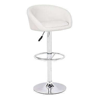 Zuo® Leatherette Orchestra Bar Stool, White