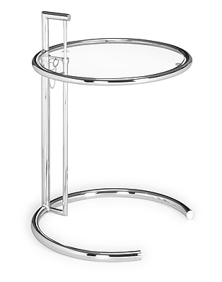 """""Zuo Eileen Gray 26 - 37"""""""" x 19 1/2"""""""" x 19 1/2"""""""" High Tempered Side Table, Clear Glass"""""" 57851"
