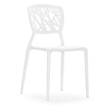 Zuo® Polypropylene Divinity Dining Chair, White