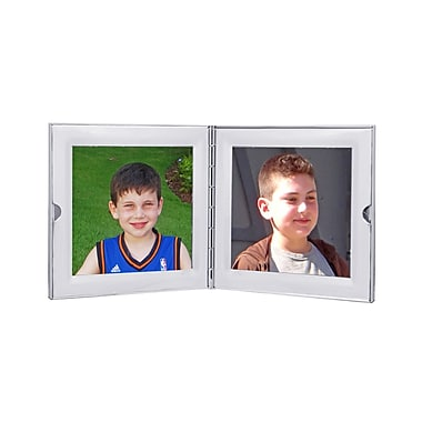 Natico Polished Silver Compact Photo Frame, 1 3/4in. x 1 3/4in.