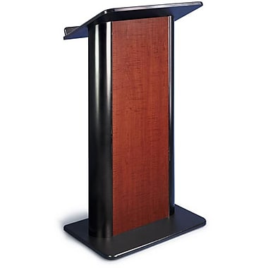Amplivox Lectern, Flat C-Panel, Sipping Seattle Java-Black Anodized Aluminum