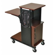 Amplivox Mobile Presentation Station , w Cabinet- Black Cherry