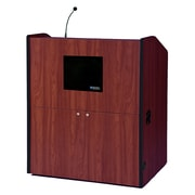 Amplivox Lectern, Wired-Sound, Wide-Multimedia, Natural Cherry