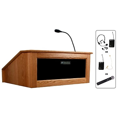 Amplivox Lectern, Wireless, Table Top, Victoria, Natural Cherry
