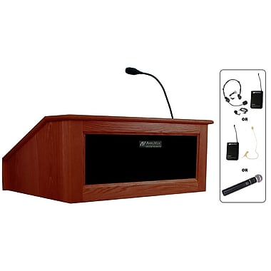 Amplivox Lectern, Wireless, Table Top, Victoria, Mahogany