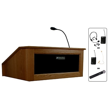 Amplivox Lectern, Wireless, Table Top, Victoria, Walnut
