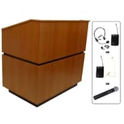 Amplivox Lectern, Wireless, Hardwood, Coventry, Natural Cherry