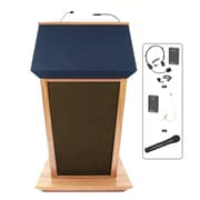 Amplivox Lectern, Wireless Sound, Hardwood, Patriot Plus, Maple