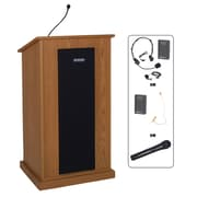 Amplivox Lectern, Wireless, veneer, Chancellor, Walnut