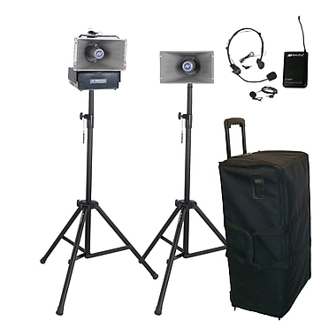 Amplivox Deluxe Wireless Half-Mile Hailer Kit